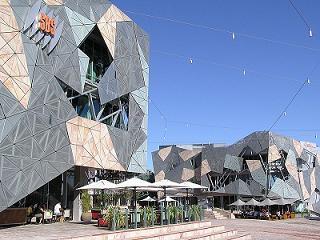 culture in Federation Square Melbourne