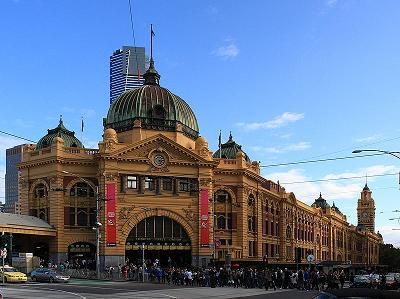 flinders train station melbourne